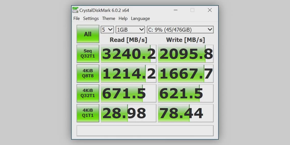 Silicon Power A80 NVME SSD performance
