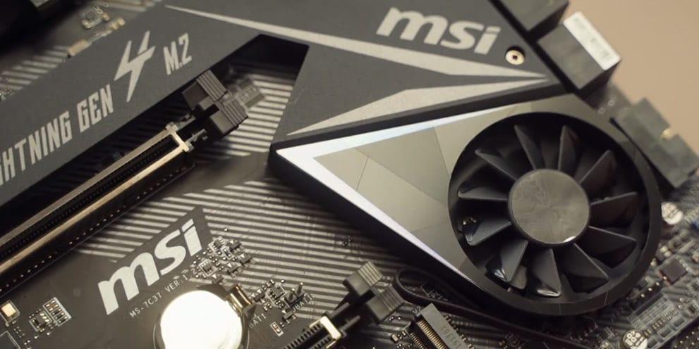 AMD Ryzen X570 Motherboard heatsink fans