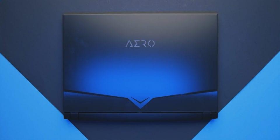 Gigabyte Aero 15 OLED notebook sharp edged top