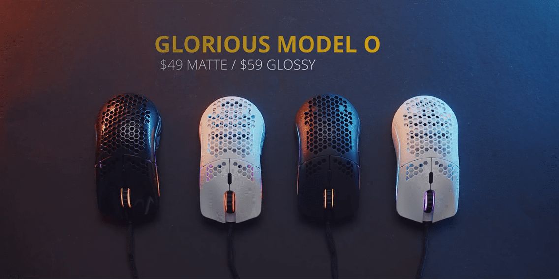 different colors for glorious model o gaming mouse