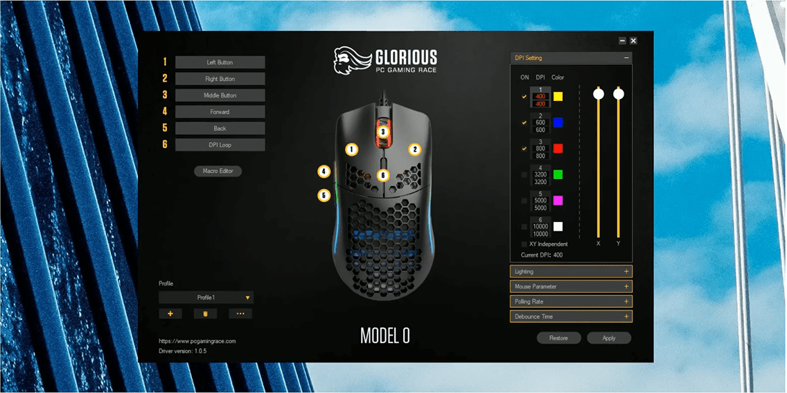 glorious model o gaming mouse software