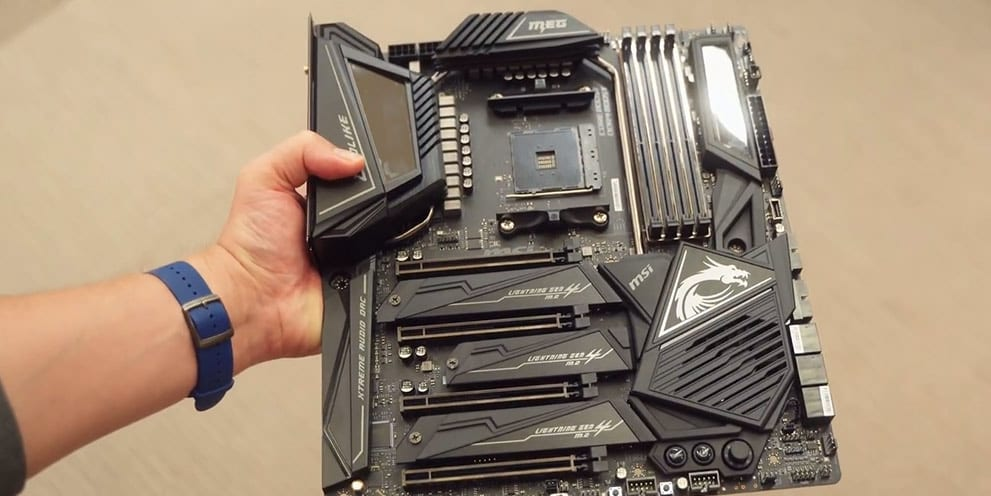 MSI MEG X570 GODLIKE motherboard full view