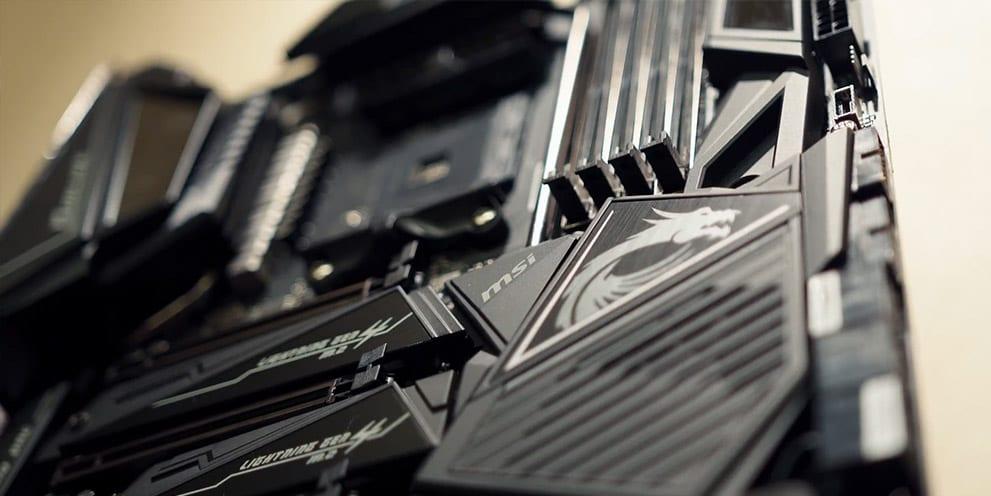 MSI X570 Motherboard memory slots