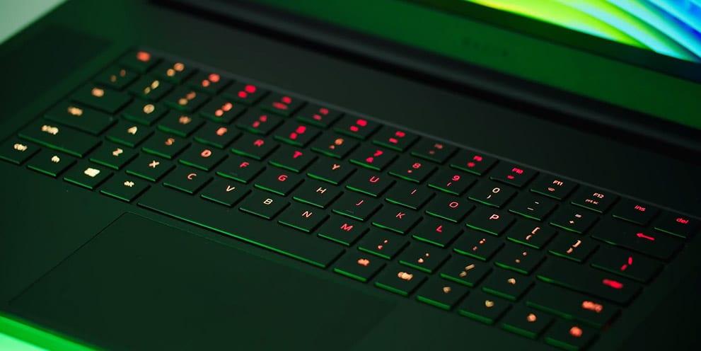 Razer Blade Pro 17 keyboard closeup