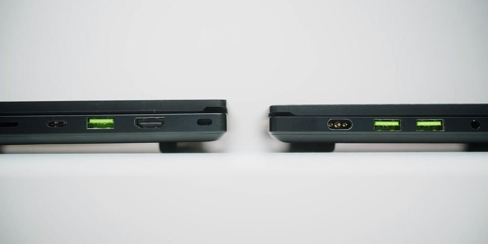 Razer Blade Pro 17 vs Blade 15 thickness