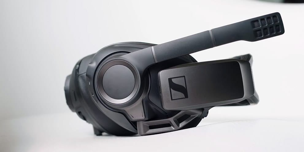 Sennheiser GSP 670 gaming headset design with titanium hints