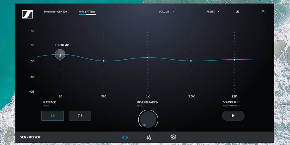 Sennheiser GSP 670 wireless gaming headset customize EQ curve