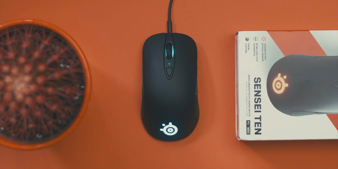 SteelSeries Sensei Ten Gaming Mouse shape