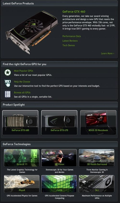 gf 31 NVIDIA Launches New GeForce.com Website