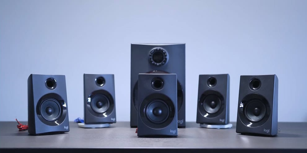 Set of Logitech Z606 Surround Sound Speakers