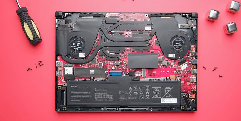 Upgrade Asus Ryzen RoG Zehyrus GA502D notebook